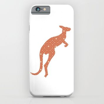 KANGAROO SILHOUETTE WITH PATTERN iPhone & iPod Case by deificus Art