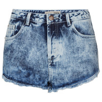 Petite Bleach Acid Hotpants - Petite - Clothing - Topshop USA