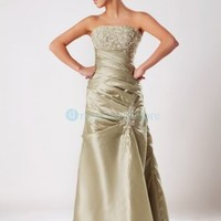Strapless Taffeta Embroidery Ruched Evening dress : dressoutletstore.co.uk, Wedding Dresses Outlet