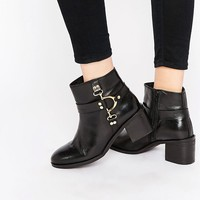 Ravel D-Ring Leather Ankle Boots