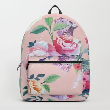 Floral pattern 2 Backpack by printapix