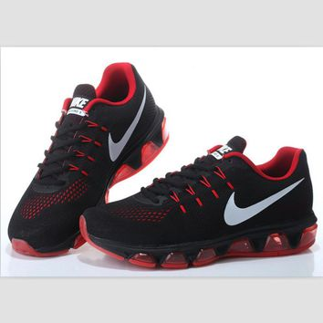 NIKE fashion knitted casual shoes sports running shoes Black and red