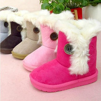 Girls  winter boots toddler snow cotton- warm size19-28