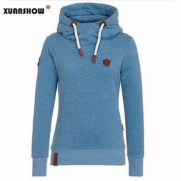 XUANSHOW 2017 Women Fashion New Hoodie Cotton Jacket Pullovers Sweatshirts Long Sleeve Pullover Tracksuits Hoodies S-XXL