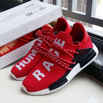 """Adidas"" NMD Human Race Fashion Trending Red Leisure Running Sports Shoes G"