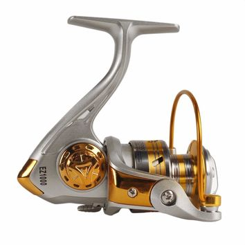 High Speed G-ratio 5.2:1 Spinning Reel 10BB Ball Bearing Fishing Reels GH-1000-6000 Free shipping