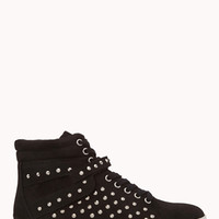 FOREVER 21 Forever Cool Spiked High-Tops