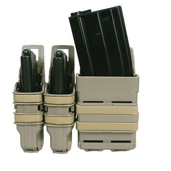 Tactical Pistol Mag Pouch Magazine Bag Holster Fast Mag Pistol 2PCS and  5.56  M4 1 PCS Attach Molle System