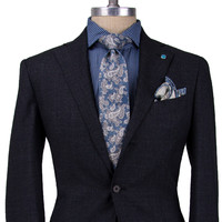 Eidos Napoli Charcoal with White Suit
