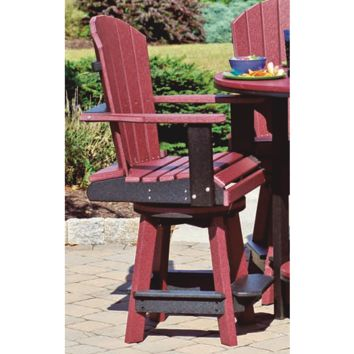 Leisure Lawns Amish Made Recycled Plastic Balcony Swivel Chair Model #79 - Ships FREE within 2 to 3 Weeks