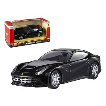 Ferrari F12 Berlinetta Black 1:43 Diecast Car Model by Hotwheels