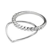 LC Lauren Conrad Angular Ring Set