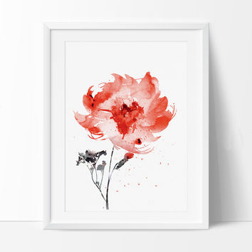 Flower Watercolor Painting Print, Flower Art Print, Watercolor Art, Flower Poster, Home Decor (81)