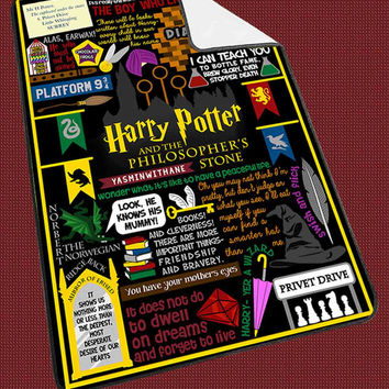 Harry Potter Collage Quote Book Ramayani a43fb895-7a73-4e55-840f-a2e292562a46 for Kids Blanket, Fleece Blanket Cute and Awesome Blanket for your bedding, Blanket fleece*NS*
