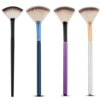 Blending Finishing Highlighter Highlighting Makeup Brush Nail Art Brush for Makeup Slim Fan Shape Powder Concealer