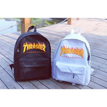 Thrasher Fashion Sport Shoulder Bag Satchel Comfort Canvas Backpack