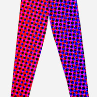 'Red and Blue Bright Pattern' Leggings by ChessJess