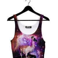 King Llama Crop Top