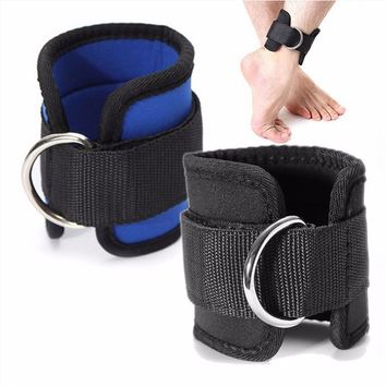 Ankle Strap D-ring Multi Gym Cable Attachment Thigh Leg Pulley Weight Lifting 1Pc