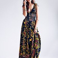 Free People Womens FP ONE Wisteria Maxi Dress