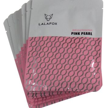 LALAFOX Premium Pink Pearl Face Mask - 7 Pack Set – Daily Skin Facial Beauty Products