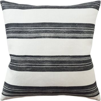 Askew Ivory and Onyx Decorative Pillow