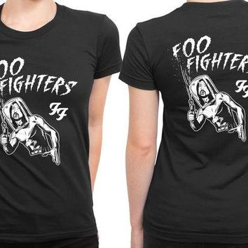 DCCKL83 Foo Fighter Old People Shoot Out 2 Sided Womens T Shirt