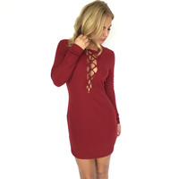 DJ Love Dress In Wine