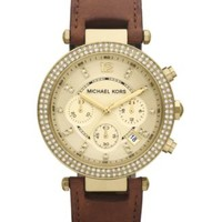 Michael Kors Women's Chronograph Parker Chocolate Brown Leather Strap Watch 39mm MK2249 - Watches - Jewelry & Watches - Macy's