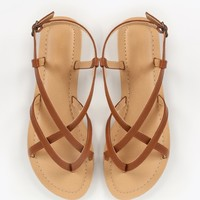 Wild Diva Lounge Tanaya-605 Strappy Thong Sandals