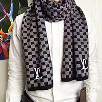 Louis Vuitton LV Autumn And Winter New Fashion Check Print Keep Warm Women Men Business Scarf