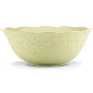 French Perle Pistachio Serving Bowl by Lenox