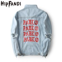 Trendy HIPFANDI Top Quality Pablo Denim Jackets Men Hip Hop Brand Clothing Streetwear Jeans Jackets I Feel Like Bomber Jacket AT_94_13