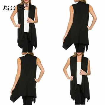 DCCK7N3 Women Long Cardigan Solid sleeveless irregular Swimming Cover Ups vestidos sexy swimsuit beach tunic sarong dress for swimwear