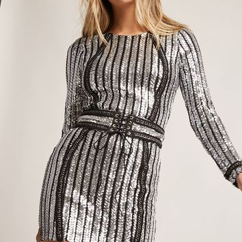 Metallic Sequin Bodycon Dress
