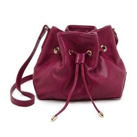 Lauren Merkin Handbags Snake Embossed Peyton Bucket Bag