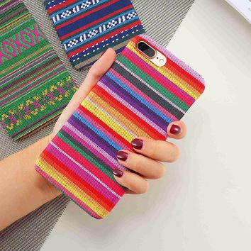 FLOVEME Bohemian Colorful Cloth Case For iPhone 7 7S 5 5S SE iPhone 6 6S Plus Phone Cases For iPhone 5S 5 6 7 Women Accessories