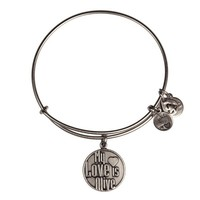 Alex and Ani My Love Is Alive Charm Bangle - Russian Silver