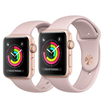 Apple Watch - Gold Aluminum Case with Pink Sand Sport Band