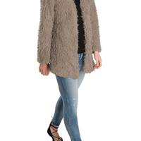 Mocha Shaggy Jacket-FINAL SALE