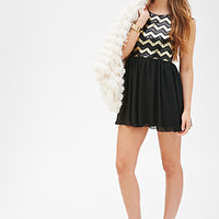 Chevron Sequin Dress