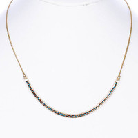 NECKLACE / KNITTED / METAL CHAIN / 1/5 INCH DROP / 16 INCH LONG / NICKEL AND LEAD COMPLIANT