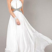 Cheap Long White Tailor Made Evening Prom Dress (LFNAF0112) cheap online-MarieProm UK