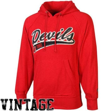 Old Time Hockey New Jersey Devils Hudson Pullover Hoodie - Red