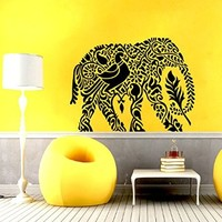 Wall Decal Vinyl Sticker Decals Elephant Yoga Om Sign Lotus Flower Indian Wall Decor Art Mural Na131