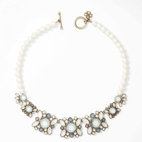 Opalescent Floral Statement Necklace