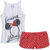 Walmart: Juniors Minnie Mouse Tank & Short PJ Set