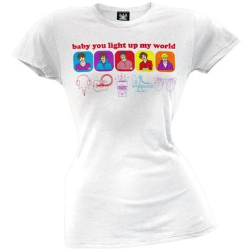 One Direction - Line Drawn Juniors T-Shirt
