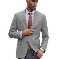Banana Republic Mens Modern Slim Textured Gray Wool Suit Jacket