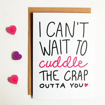 I Can't Wait to Cuddle You Greeting Card, Greeting Cards, LDR Card, Boyfriend Gift, Long Distance Boyfriend Gift, Long Distance Relationship